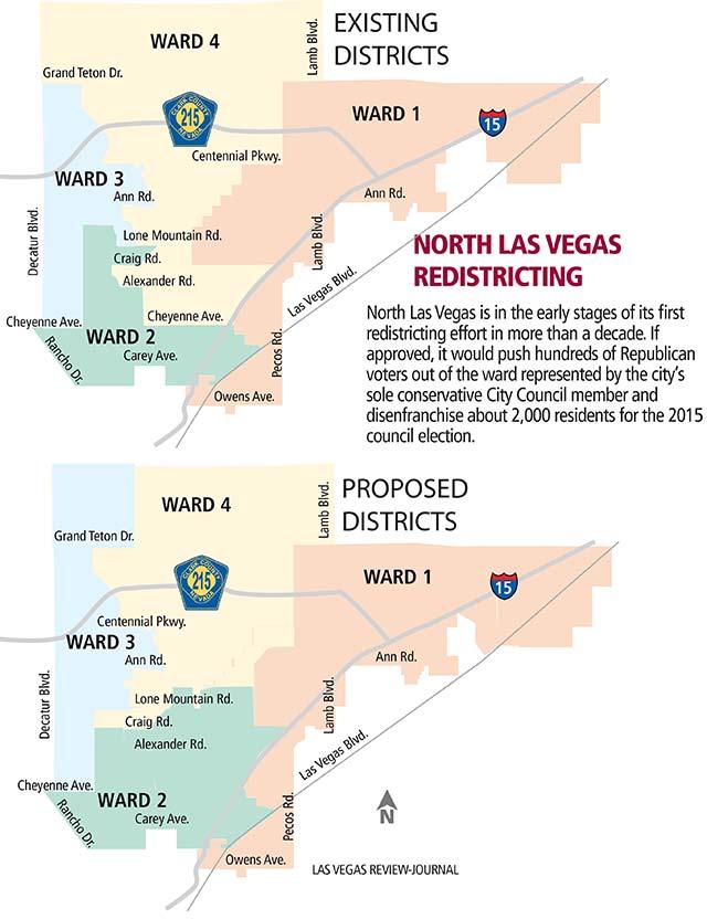 North Las Vegas Redistricting Has Downsides  Las Vegas